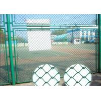 China School Diamond Wire Mesh / Green Chain Link Fence Pvc Coated 50x50mm Mesh Hole on sale