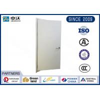 Industrial Buildings Hardwood Fire Doors , Wooden Baking Paint Fire Rated Doors