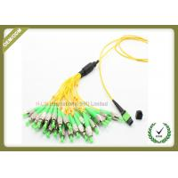 Buy cheap Single Mode Fiber Optic Patch Cord , Optical Fiber Jumper With Yellow Color product