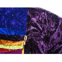 Buy cheap 100% Polyester Velour Crushed P/d from wholesalers