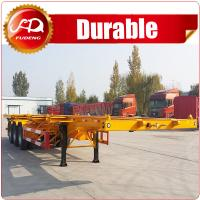 Buy cheap 3axle 40ft skeleton semi trailer  Container chassis , 3 axle 40FT container skeleton semi trailer for sale from wholesalers