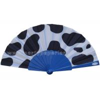 Buy cheap Unique Design Printed Fabric Hand Fan For Promotion , Gift , Souvenirs Variety Colors from wholesalers