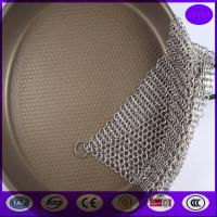 Buy cheap 6X8 Inch Kitchen Pot Brush Cast Iron Stainless Steel Chainmail Scrubber Cleaner from china from wholesalers