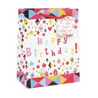 Buy cheap Creative brown birthday paper gift shopping bag wholesale small medium large from wholesalers