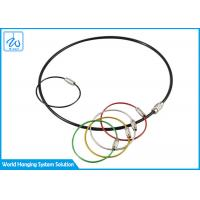 Buy cheap Galvanized Cable Loop Key Ring Colorful Traveler Key Shackle Wire Loop from wholesalers