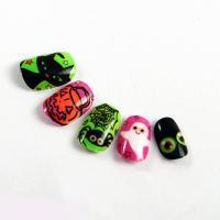 Buy cheap OEM Printing Dark In Grow Fake Nails Pumpkin Head Pattern False Fingernails product