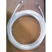 Buy cheap F Connector Dual RG6 Quad Shield Coaxial Cable Rosh Compliant PVC Jacket Braiding from wholesalers