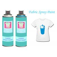 Buy cheap BlackFabricSprayPaintAcrylicSprayPaint For Clothing / Shoes UV Resistant from wholesalers