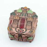 Buy cheap Antique Brass Metal Jewelry Box from wholesalers