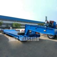 Buy cheap Tri axle excavator trailer removable front loading 60 ton 80 ton 100 ton detachable gooseneck lowboy low bed semi traile from wholesalers