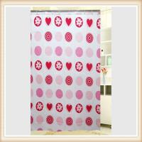 China Water Resistant Small Polyester Fabric Shower Curtain With Floral Patten on sale