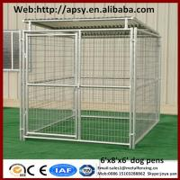 Buy cheap Heavy duty 6'x8'x6' small animals houses waterproof pug cages galvanized metal welded dog run kennels from wholesalers