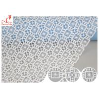 Buy cheap Poland Guipure Embroidered Floral Lace Fabric With Water Soluble Poly Milk Silk Azo Free product
