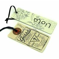 Custom Color Apparel Hang Tags / Garment Swing Tags For Jeans Wholesale