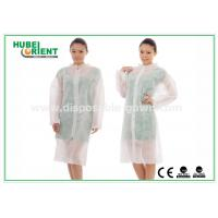 China PP SMS disposable lab jackets , light weight disposable medical clothing on sale