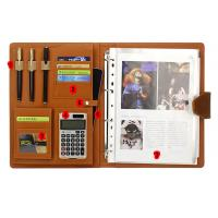 Buy cheap file organizer with calculator document holder with memo pad spring binder pen holder zipper bag from wholesalers