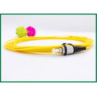 Buy cheap FC / UPC Pigtail Single Mode Fiber Optic Patch Cord , Yellow PVC Jacket from wholesalers