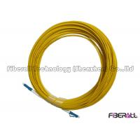 Buy cheap PC End Face Custom Fiber Optic Cables ,  LC LC Single Mode Fiber Patch Cable from wholesalers
