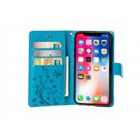 Buy cheap Butterfly Pattern Wallet Leather Case Blue / iPhone 8 Plus Leather Wallet Case from wholesalers
