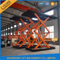 China Underground Parking Car Storage Lifts Mobile Car Scissor Lift Hydraulic System on sale