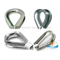 Buy cheap A3 Steel Wire Rope Thimbles Bright Smooth Surface With MC Certificated from wholesalers