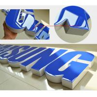 Buy cheap Colors Return Resin Face Lit Channel Letters Rimless Zinc Coated Steel UL Listed LED Signage Illuminated from wholesalers