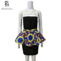 Buy cheap Customized Size African Print Skirts , Womens African Print Mini Skirts from wholesalers