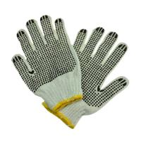 Buy cheap Poly cotton knitted gloves work gloves pvc dotted gloves from wholesalers