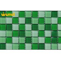 Buy cheap Antifreeze Interior Building Wall Green Mosaic Tile With Mixed Chips from wholesalers