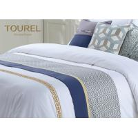 Buy cheap Custom 3cm Stripe Hotel Bed Runners For Hotel Dubai Bed Sheet Set from wholesalers