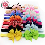 Buy cheap Girl Hair Bow Headband DIY Grosgrain Ribbon Bow Elastic Hair Bands For Newborn Infant Todd from wholesalers