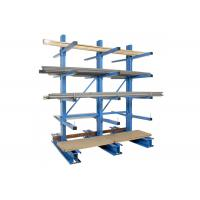 Buy cheap Corrosion protection cold-roll steel cantilevel racks multi-layers for sheet lumber wood plank storage from wholesalers