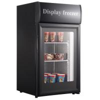 Buy cheap 50L hot sale digital control counter top glass door ice cream commercial portable fridge freezer SD50B from wholesalers