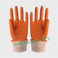 Buy cheap orange color rubber household glove from wholesalers