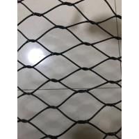 China Zoo SS 316 Woven Wire Mesh Rhombus Impact Resistance Excellent Flexible Performance on sale