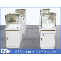 Buy cheap MDF Jewellery Display Cabinets With Lock OEM 450 X 450 X 1250MM product