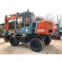 Buy cheap Strong Power EX100 10T Wheeled Used Hitachi Excavator from wholesalers