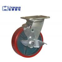 Buy cheap PU Cast Iron Core Caster With Brake from wholesalers