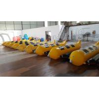 Buy cheap 3 Seats Inflatable Water Banana Boat With 0.9mm PVC Tarpaulin Material from wholesalers