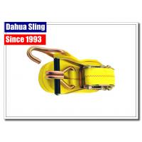 Buy cheap Self Tightening Cargo Ratchet Straps Enclosed Trailer Tie Downs With Yellow Webbing from wholesalers