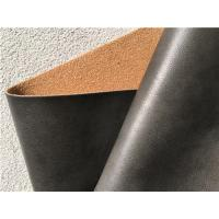 Buy cheap PU Coating Leather Furniture Fabric , Dark Brown Leather Fabric For Upholstery from wholesalers
