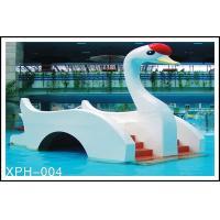 Water Park Equipment Small Swan Kids Water Slide, Fiberglass Water Pool Slides For Kids