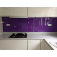 Buy cheap Kitchen Violet Painted Glass Backsplash Easily Clean The Stains from wholesalers