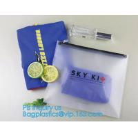 Buy cheap PVC Stationery ruler set packaging bag with slider, fabric slider zip bags, slider PVC cosmetic bag,pencil bag from wholesalers