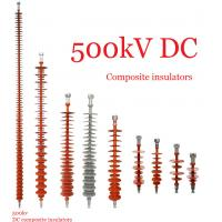 Buy cheap Composite Polymeric Silicone Rubber Insulator 500kv Creepage Distance 17600mm from Wholesalers