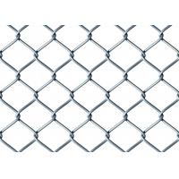 Buy cheap Galvanized Chain Link Fence Mesh , Galvanized Mesh Fence with Barbed Edges from wholesalers