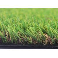 4 Tone UV Resistant Landscaping Fake Grass For Crafts 25mm U Shape 12000 Density