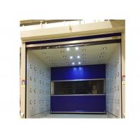 Buy cheap Blue Rolling Door Air Shower Tunnel With Powder Coated Steel Cabinet from wholesalers