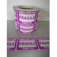 Buy cheap Self Adhesive Electrical Warning Shipping Labels Pre - Printed Fragile Sticker from wholesalers