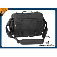 Buy cheap Black Multi - Functional Tactical Messenger Bag Men 100% 600D Nylon , Pvc Coated from wholesalers